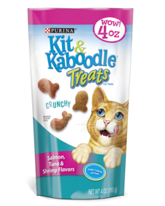 Kit & Kaboodle Crunchy Salmon, Tuna & Shrimp Cat Treats