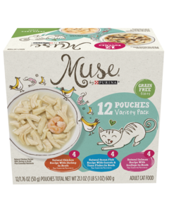 Muse Filet in Pouches 12 Count Variety Pack Cat Food