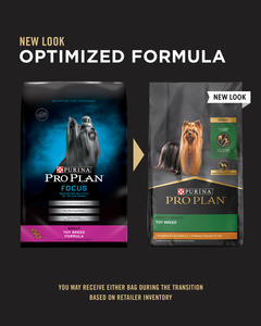 image of package change of the pro plan toy dog food