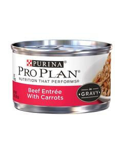 ProPlan Adult Beef Entree With Carrots Braised in Gravy