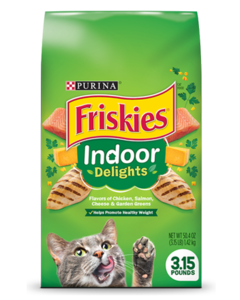 Friskies Indoor Delights® Dry Cat Food Package