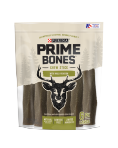 Prime Bones Chew Stick With Wild Venison for Large Dogs