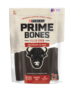 Prime Bones Rawhide-Free Small Dog Filled Chew With Pasture-Fed Bison