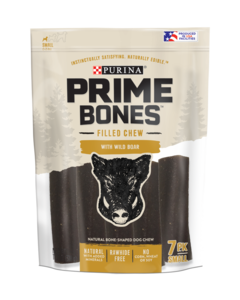 Prime Bones Rawhide-Free Small Dog Filled Chew With Wild Boar