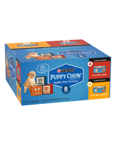 Purina Puppy Chow Classic Ground Wet Puppy Food 8-Count Variety Pack