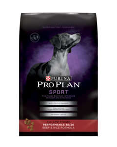 PURINA PRO PLAN BRAND DOG FOOD PERFORMANCE 30/20 BEEF & RICE FORMULA