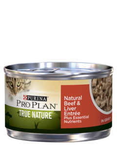 Purina Pro Plan True Nature Adult Natural Beef & Liver Entrée Plus Essential Nutrients In Gravy Wet Cat Food