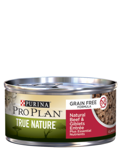 Purina Pro Plan True Nature Grain Free Formula Natural Beef & Giblets Entrée Classic Wet Cat Food