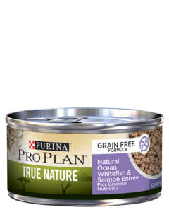 Purina Pro Plan True Nature Adult Grain Free Formula Natural Ocean Whitefish & Salmon Entrée Wet Cat Food