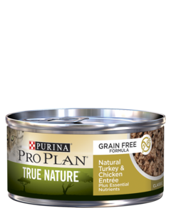 Purina Pro Plan True Nature Grain Free Formula Natural Turkey & Chicken Entrée Classic Wet Cat Food
