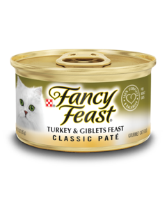 Classic Paté Fancy Feast Turkey and Giblets