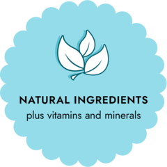natural ingredients plus vitamins and minerals