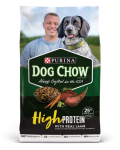 dog chow high protein dry lamb product image