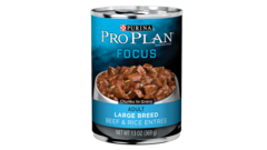 Focus Adult Large Breed Beef & Rice Entrée Chunks In Gravy