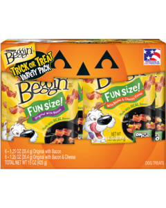 Beggin Fun Size Trick or Treat Dog Treats Variety Pack