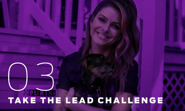 Maria Menounos supports the Purple Leash Project to raise awareness about domestic violence and pet-friendly shelters