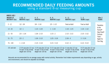 How much to feed a puppy puppy feeding chart purina