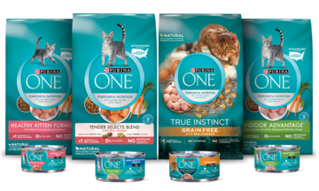 Purina One Cat food family