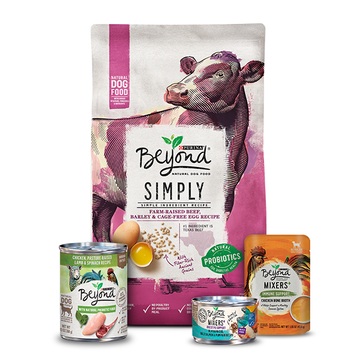 Beyond dog food packaged products