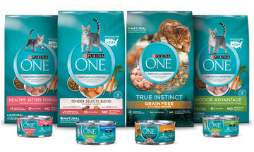 Purina One family of cat products