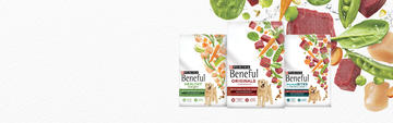 Beneful mainline packages along with ingredients