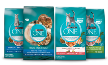 purina one dry cat products
