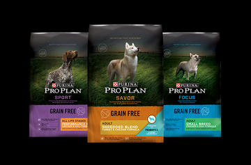 Pro Plan GRAIN FREE DOG FOOD Family shot