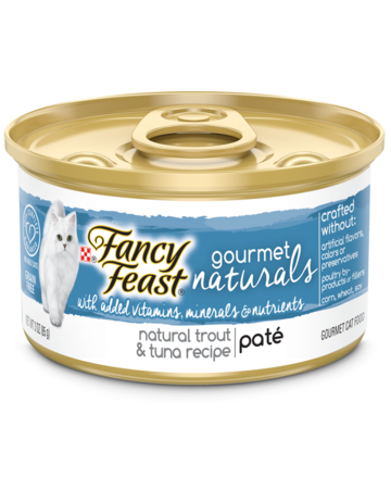 Gourmet Naturals Wet Cat Food Trout & Tuna Wet Cat Food with Added Vitamins, Minerals and Nutrients