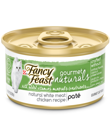 Gourmet Naturals White Meat Chicken Wet Cat Food with Added Vitamins, Minerals and Nutrients