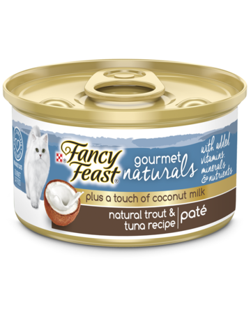 Gourmet Naturals Plus a Touch of Coconut Milk - Natural Trout & Tuna Recipe Paté with Added Vitamins, Minerals and Nutrients Wet Cat Food