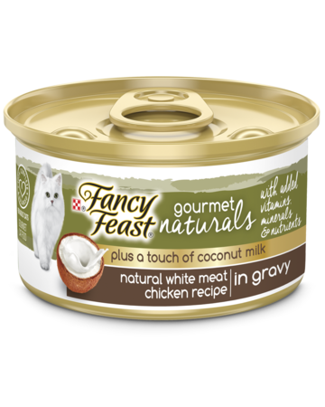 Gourmet Naturals Plus a Touch of Coconut Milk - Natural White Meat Chicken in Gravy with Added Vitamins, Minerals and Nutrients Wet Cat Food