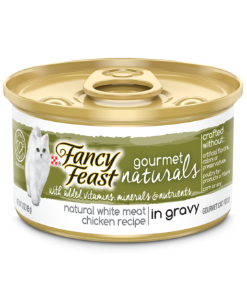 Gourmet Naturals White Meat Chicken Wet Cat Food in Gravy with Added Vitamins, Minerals and Nutrients