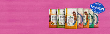 Beyond simply dry pet food with natural probiotics for digestive health