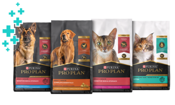 line of probiotic dry cat and dog food bags