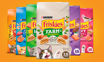 Friskies dry cat food products