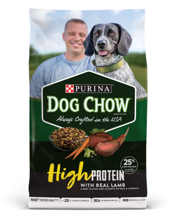 dog chow high protein dry dog food
