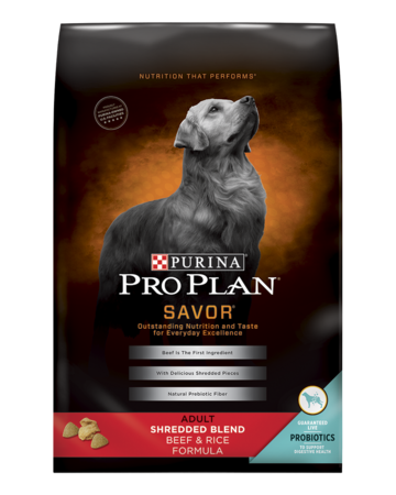 Pro Plan® SAVOR® Shredded Blend Adult Beef & Rice