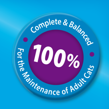100 percent complete and balanced for maintenance of adult cats