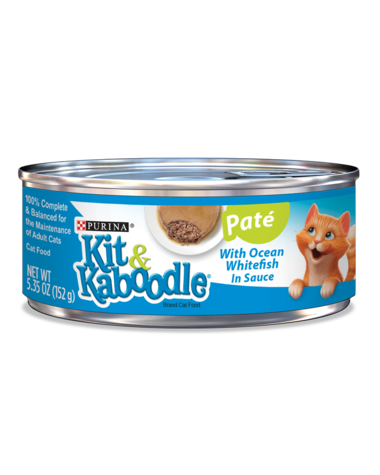 Kit & Kaboodle Pate with Ocean Whitefish in Sauce Wet Cat Food