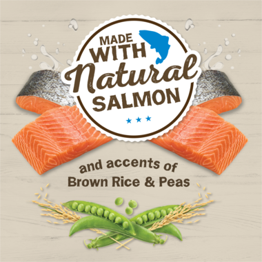 with natural salmon