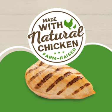 Made with natural chicken