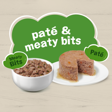 Pate and meaty bits