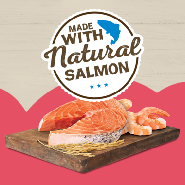 Made with natural salmon