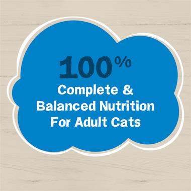 100 pct complete and balanced nutrition for adult cats