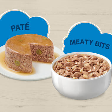 Pate and meaty bites