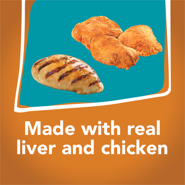 Made with real liver and chicken