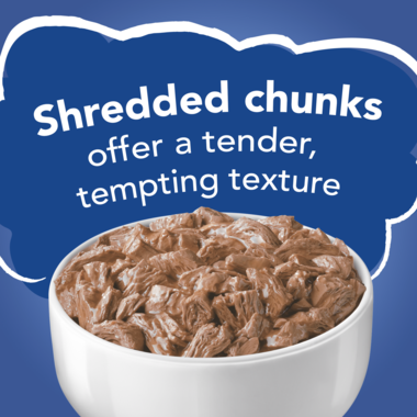 Shreded chunks offer a tender tempting texture