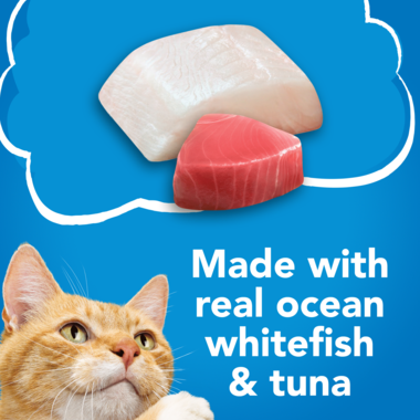 Made with real ocean whitefish and tuna