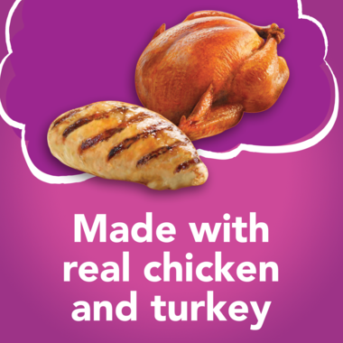 Made with real chicken and turkey