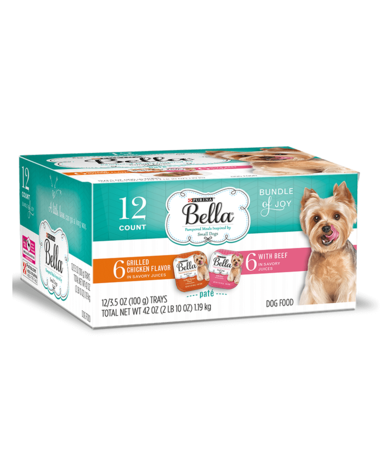 Bella Grilled Chicken Flavor Paté With Beef Paté, 12 pack